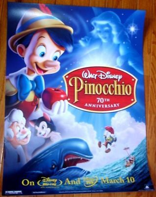 Pinocchio-70th Anniversary 24X18 Unframed Movie Poster
