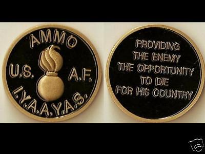 Ammo IYAAYAS Provide Enemy Black Color Air Force Challenge Coin BLs