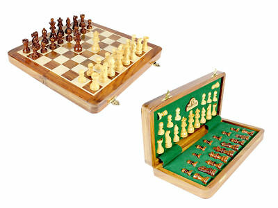 """Magnetic Chess Set Board 12"""" Wooden Chess Pcs King 2.5"""""""