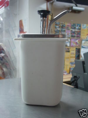 """14""""X41/2""""X71/2""""TUB WITH STAINLESS DISPENSING PUMP"""