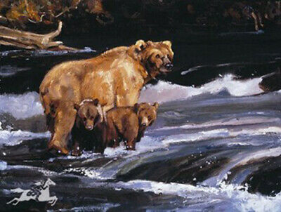 Time Out by Judi Rideout Grizzly Bear  Wildlife LE SN Fine Art Lithograph