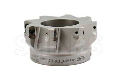 """Shars 4"""" 90° Indexable Face Mill Cutter Use Apmt Apkt 33 New $408.50 Off"""