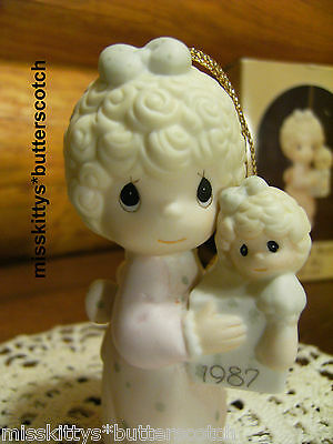Precious Moments~ORNAMENT~DATED 1987~Love is the Best Gift of All~109770~Doll
