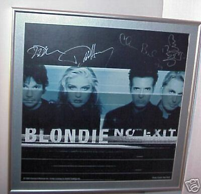 1999 Blondie Signed Professionally Matted Framed No Exit Poster Debbie Harry