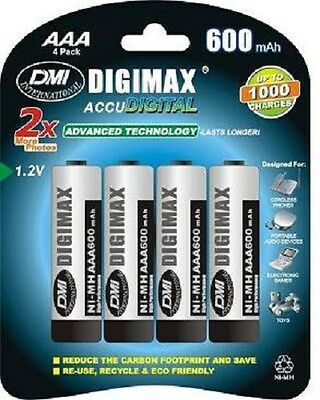 4 x AAA 600 MAH RECHARGEABLE BATTERIES-(LR03) DECT PHON