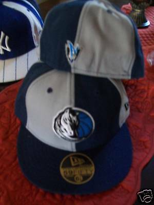 check out 26bab 41755 Dallas Mavericks New Era 59Fifty Fitted Flat Bill Hat Cap Lid NBA size 6 7