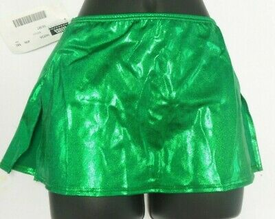 NWT FOIL LYCRA LIQUID METAL SKIRTS w/TRUNKS Ch/AD COLOR