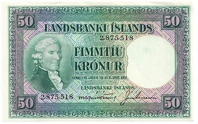Iceland 50 Kronur (1948-56) (P34a) - uncirculated