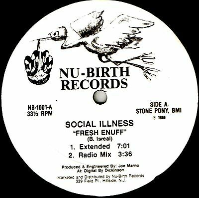 "12"" - Social Illness - Fresh Enuff (BREACKDANCE) NUEVO - NEW, STOCK STORE LISTEN"