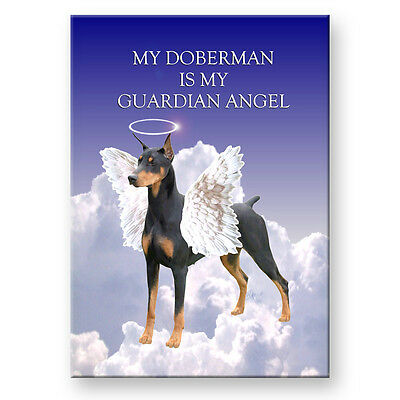 DOBERMAN PINSCHER Guardian Angel FRIDGE MAGNET No 1 DOG
