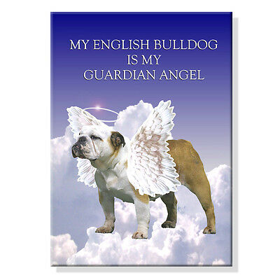 ENGLISH BULLDOG Guardian Angel FRIDGE MAGNET No 2 DOG