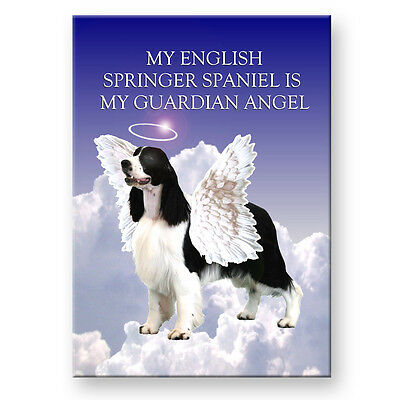 ENGLISH SPRINGER SPANIEL Guardian Angel FRIDGE MAGNET