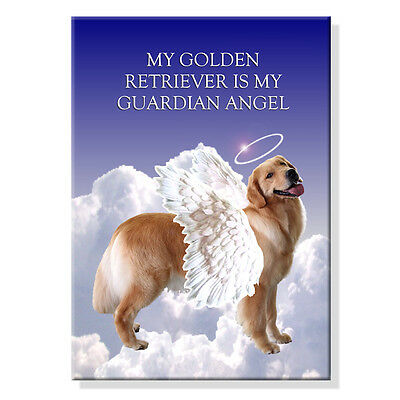 GOLDEN RETRIEVER Guardian Angel FRIDGE MAGNET New DOG