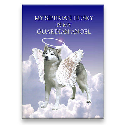 SIBERIAN HUSKY Guardian Angel FRIDGE MAGNET New DOG