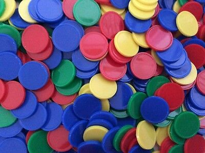 500pk Counters Round (20mm) Assorted Colours BULK BUY - 4 colours per pack