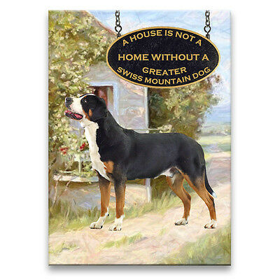 GREATER SWISS MOUNTAIN DOG House Is Not A Home MAGNET