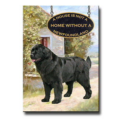 NEWFOUNDLAND House Is Not A Home FRIDGE MAGNET No 2 Black