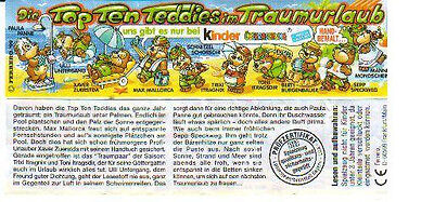 Kinder - Cartina - Die Top Ten Teddies - Tedesca