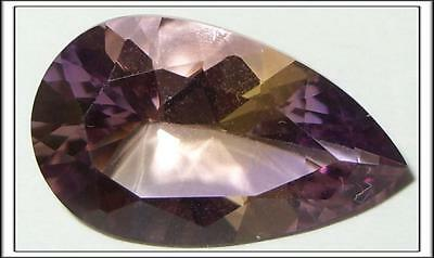 17.46ct Natural Bolivian Blended Ametrine Pear Cut