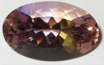 27.45ct Natural Bolivian Blended Ametrine Oval Cut