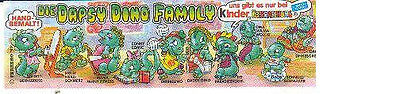 Kinder - Cartina - Die Dapsy Dino Family  - Tedesca