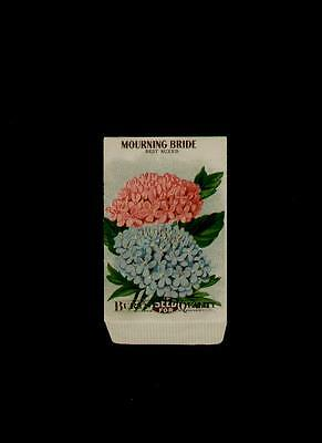 1915 MOURNING BRIDE LITHO SEED PACKET / ~L@@K~