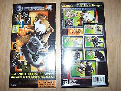 Box of 34 G-Force Valentines Day Cards W Glow Stickers