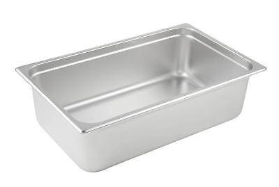 6 Full Size Steam Table Chafing Insert Pans 18/8 Stainless Steel 6  Inches Deep