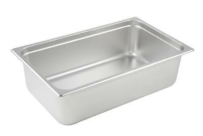 LOT OF 6 NEW FULL SIZE STEAM TABLE CHAFING INSERT PANS Stainless Steel 6 IN DEEP