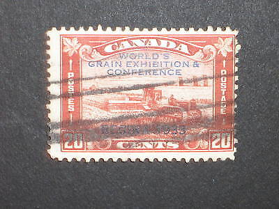 Canada #203 20 Cents Stamp USED Grain Exhibition