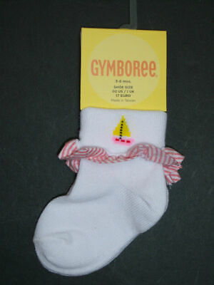 Nwt Gymboree Cote D-Azure Sailboat Socks Sox Girl 3-6 M