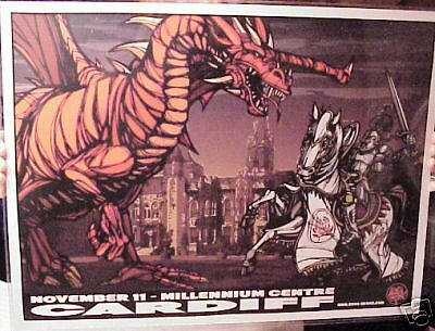 2007 Ryan Adams Cardiff Wales Concert Poster Millenniun Centre