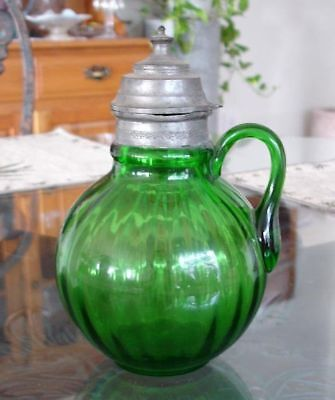 "Beaumont ""Tubby Optic"" Syrup Jug circa 1895"