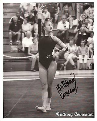BRITTANY COMEAUX - US GYMNSAST personally signed 10x8