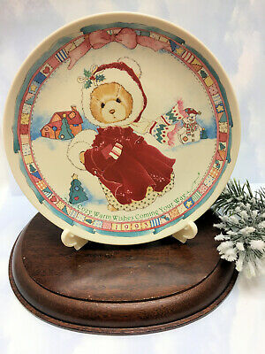 Cherished Teddies Plate Girl With Muff - Alice  NIB