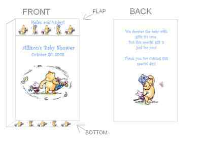 Classic Winnie The Pooh Baby Shower Thank You Tags 4 00