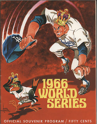 1966 Dodgers vs Orioles WORLD SERIES Pgm - Dodger Vers