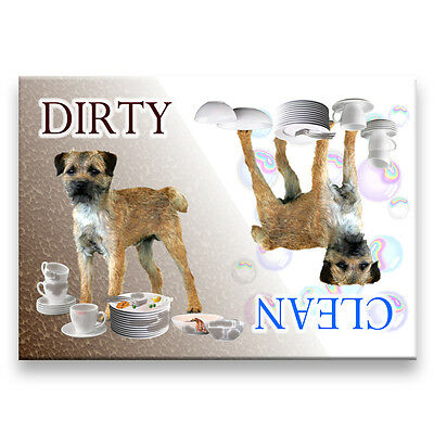 BORDER TERRIER Clean Dirty DISHWASHER MAGNET New DOG
