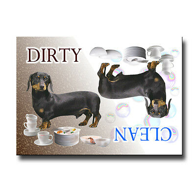 DACHSHUND Clean Dirty DISHWASHER MAGNET No 2 B&T New