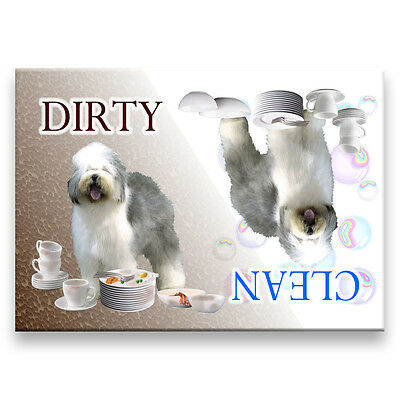 OLD ENGLISH SHEEPDOG Clean Dirty DISHWASHER MAGNET New