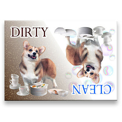 PEMBROKE CORGI Clean Dirty DISHWASHER MAGNET No 1 DOG