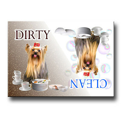 YORKSHIRE TERRIER Clean/Dirty DISHWASHER MAGNET Yorkie