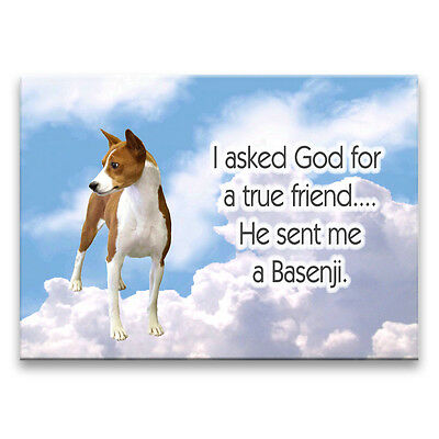 BASENJI True Friend From God FRIDGE MAGNET No 1 DOG