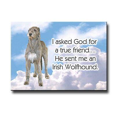 IRISH WOLFHOUND True Friend From God FRIDGE MAGNET Dog