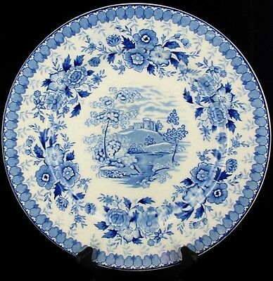 Antique Staffordshire England Aimcee Woodland Blue Woodland Dessert Wall Plate 8