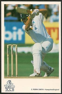 ROBIN SMITH (England) TCCB Official CRICKET POSTCARD No 2
