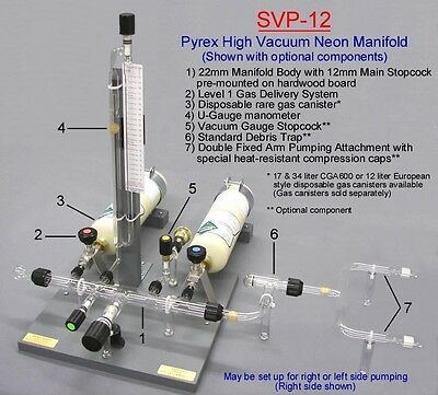 Svp-12 Pyrex Neon Manifold Sign Plant Equipment Supply