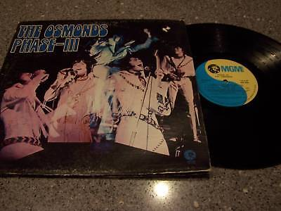 "The Osmonds ""Phase-III"" MGM LP GATEFOLD W/LYRICS INSIDE FLAP"