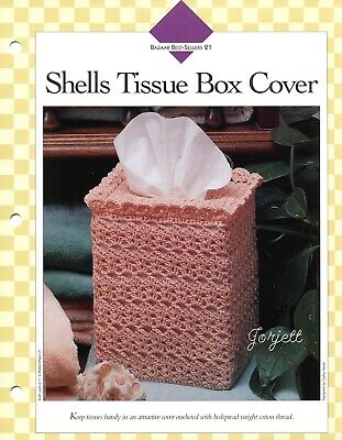 "Crochet Tissue box cover /""Fanciful Tissue Box Covers/""  Annie Potter"