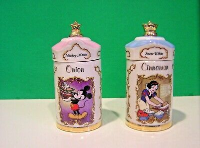 LENOX DISNEY SPICE JARS MICKEY MOUSE SNOW WHITE New in Box